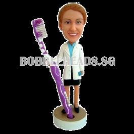 Custom Bobblehead Female Dentist