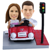 Couple in Car Custom Bobbleheads