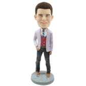 Custom Bobble Head Stylish Man