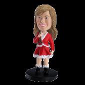 Custom bobblehead Christmas Girl