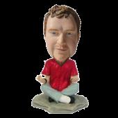 Custom Bobblehead Yoga Man