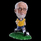 Custom Brazil football bobble head
