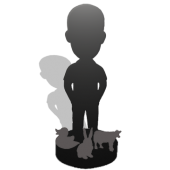 Custom single bobblehead and Duck Rabbit & Cow