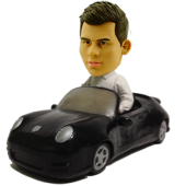 Man in Porsche Custom Bobblehead