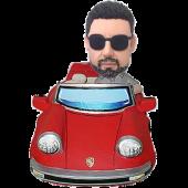 Man in Red Car Bobblehead