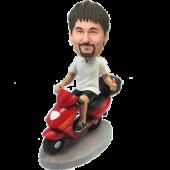 Man on Scooter Custom Bobblehead