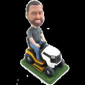 Man Riding Mower Custom Bobble Head