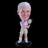 Customized Bobblehead Woman Tennis