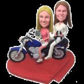 Sprot Sisters on Motor Custom Bobbleheads