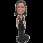 Black Dress Lady Custom Bobblehead