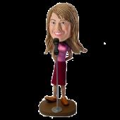 Custom Female Singer Bobble head