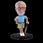 Custom golfing bobble head