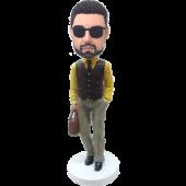 Customized Bobble Head Sylish Man