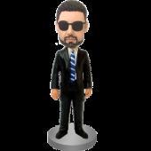Customized Bobblehead Trademan In Suit