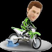 Dirtbike Racer Custom Bobble Head