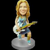 Female Guitarist Custom BobbleHead