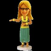 Hula Girl Luau Hawaiian Dancing Bobble