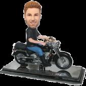 Man in Harley Bike Custom Bobblehead