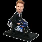 Man on Motorcycle Custom Bobblehead
