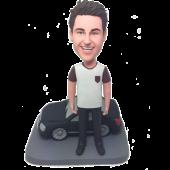 Man With Black Car Custom Bobblehead