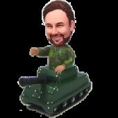 Military on Tank Custom Bobblehead