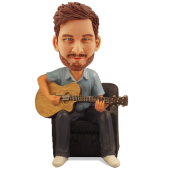 Personalized Guitar Player Bobble Head