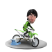 Custom Bobblehead Dirt bike racer
